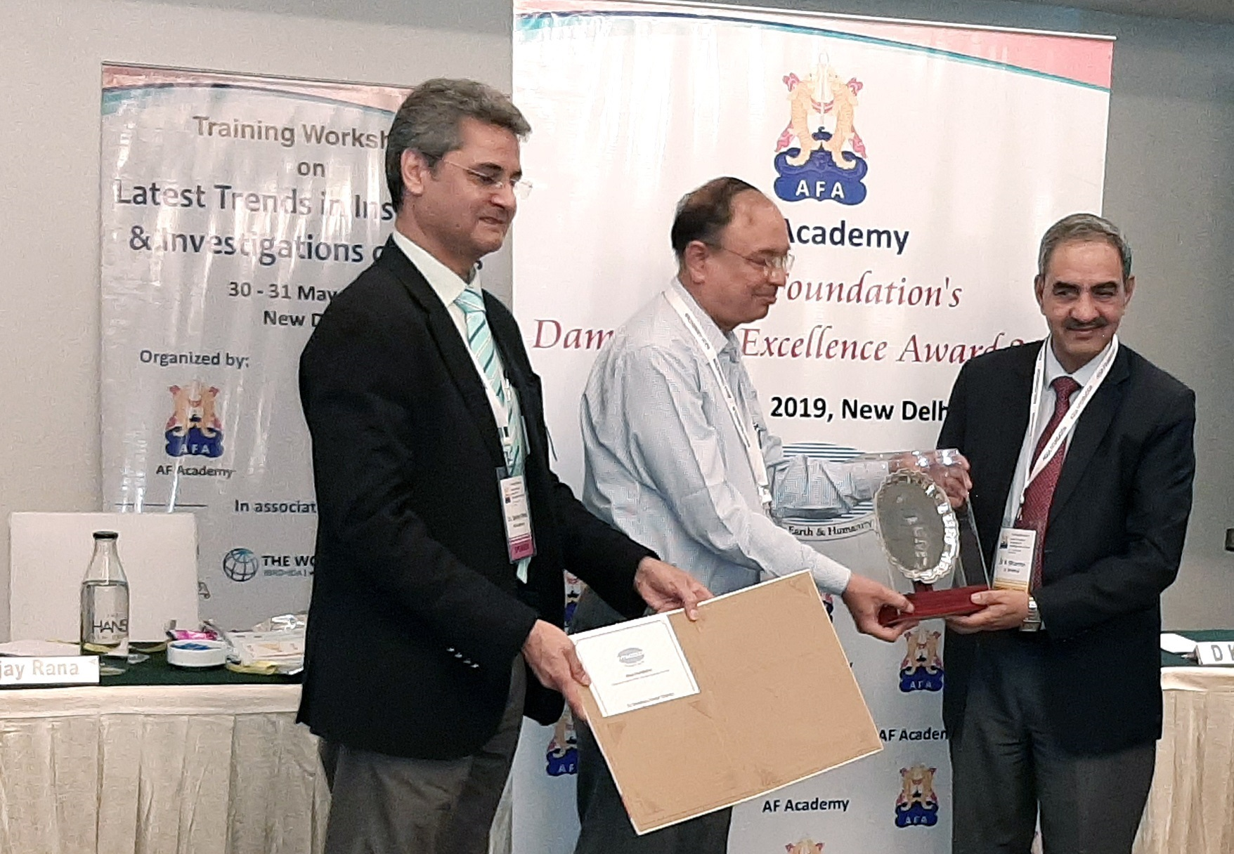 "Shri D.K. Sharma, Chairman BBMB honoured with ""AWARD FOR DAM SAFETY – INDIVIDUAL PROFESSIONAL EXCELLENCE"" on 30.05 2019 at New Delhi"