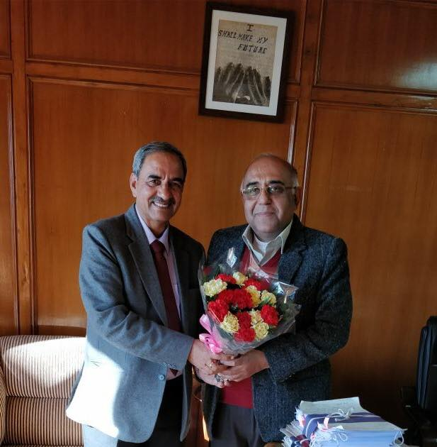 Sh. D.K. Sharma, Chairman, BBMB with Sh. Vineet Chawdhry, Chief Secretary, Himachal Pradesh.