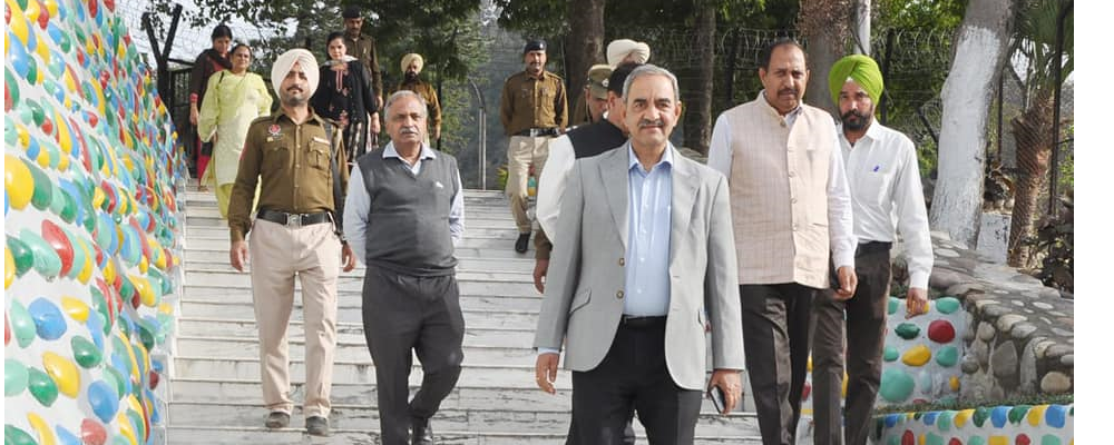 D.K. Sharma, Chairman, BBMB inspected ongoing repair work of Turbine at Bhakra Left Bank Power House and recently constructed Road (Vermala to Nehla) for the welfare of villagers in his visit to Bhakra Nangal Project on 24 March 2019.