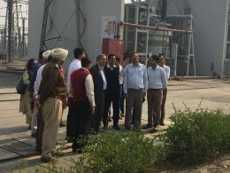 Inspection of 400 KV substation Panipat and residential colony by Sh. D.K. Sharma, Chairman, BBMB on 18.11.18.