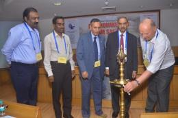 D.K.Sharma, Chairman, BBMB and President, INCOLD delivering address during Short Course on Earthquake and Dam Engineering conducted by Dr Martin Wieland, Chairman, Committee on Seismic Aspects ICOLD