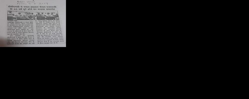 बीबीएमबी ने नंगल हाइडल चैनल एनएचसी के 65 वर्ष पूरे होने पर मनाया समारोह