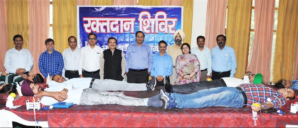 बीबीएमबी ने रक्तदान शिवर आयोजित किया