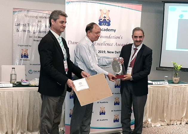 DAM SAFETY – INDIVIDUAL PROFESSIONAL EXCELLENCE AWARD TO SHRI D.K. SHARMA, CHAIRMAN, BBMB.