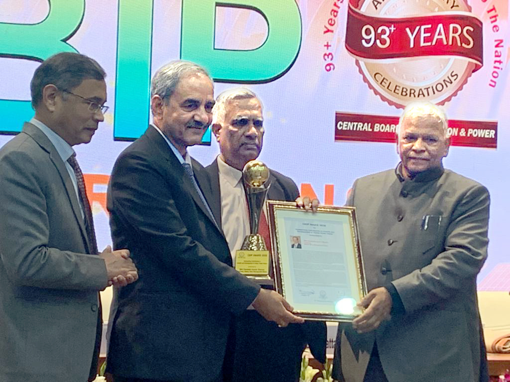 CBIP Awards to Bhakra Dam and to Sh. D.K. Sharma, Chairman, BBMB.
