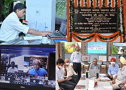 Sh. R.K. Singh, Hon'ble Minister of State for Power (I/C), Govt. of India, E-inaugurated BBMB Power Houses & Sub-Stations Remote Control Room at SLDC Complex, BBMB, Chandigarh