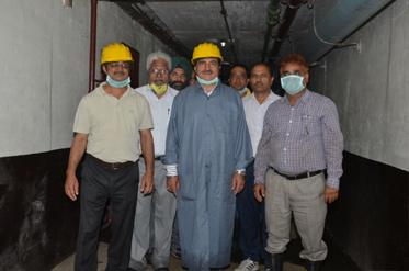 सदस्य (विद्युत) बीबीएमबी ने ब्यास बांध ने अनुरक्षण कार्य का निरीक्षण किया